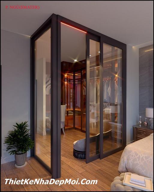 thiết kế phòng ngủ master 24.5m2