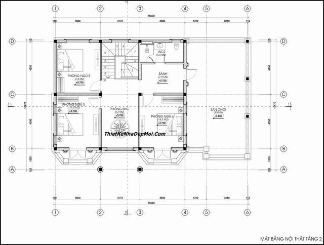Thiết kế biệt thự tân cổ điển 160m2