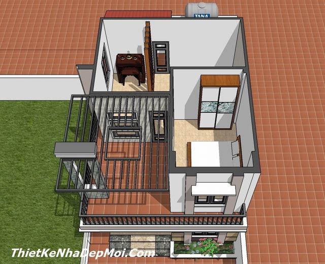 Mẫu nhà 2 tầng 6x8 đẹp 2020