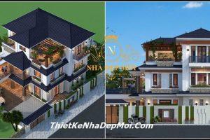 Kiến trúc villa 2 tầng hiện đại