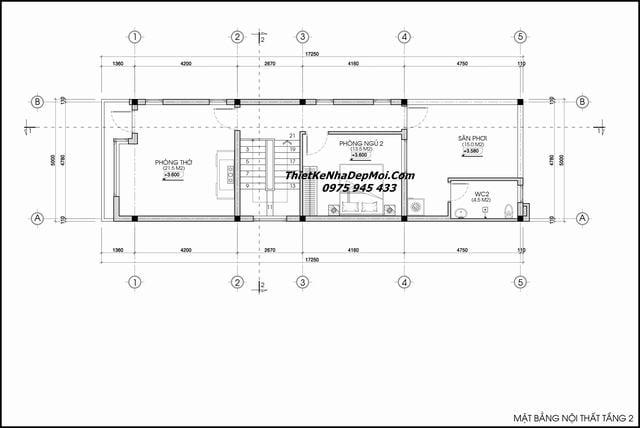 Thiết kế nhà mái dốc đơn giản