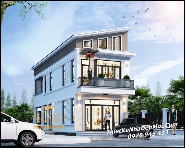 Kiến trúc nhà 2 mặt tiền đẹp 5x17m