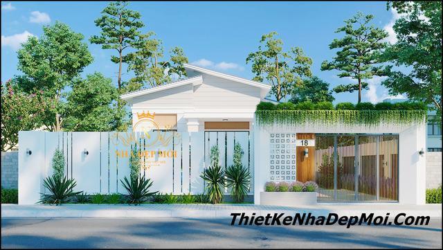 Nhà biệt thự vườn mini ở quê đẹp 3 phòng ngủ