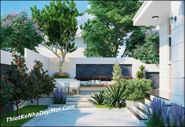Thiết kế nhà cấp 4 sân vườn kiểu hiện đại