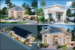 nhà phong cách hiện đại, Mẫu nhà cấp 4 phong cách hiện đại có sân vườn mini anh Tính, Công ty thiết kế xây dựng Nhà Đẹp Mới, Công ty thiết kế xây dựng Nhà Đẹp Mới