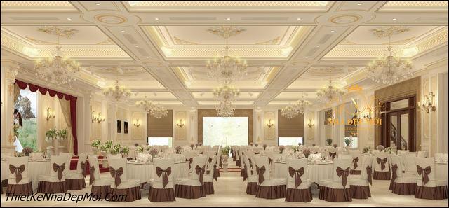 Mẫu nội thất nhà hàng cao cấp tân cổ điển đẹp