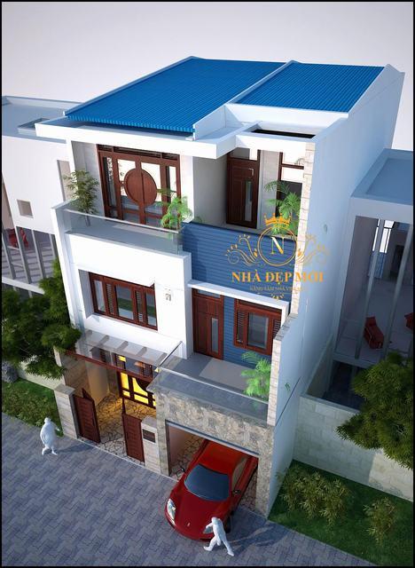 Nhà 2 tầng mặt tiền 8m 4 phòng ngủ
