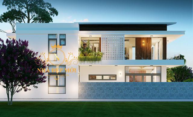 Kiến trúc nhà 2 tầng hiện đại