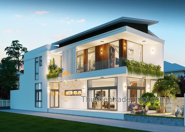 Nhà đẹp 2 mặt ngõ 2 tầng hiện đại