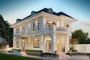 nhà hiện đại 2 tầng, Kiểu biệt thự nhà vườn 2 tầng hiện đại đẹp 8x16m kiểu châu âu anh Ngọc, Công ty thiết kế xây dựng Nhà Đẹp Mới, Công ty thiết kế xây dựng Nhà Đẹp Mới