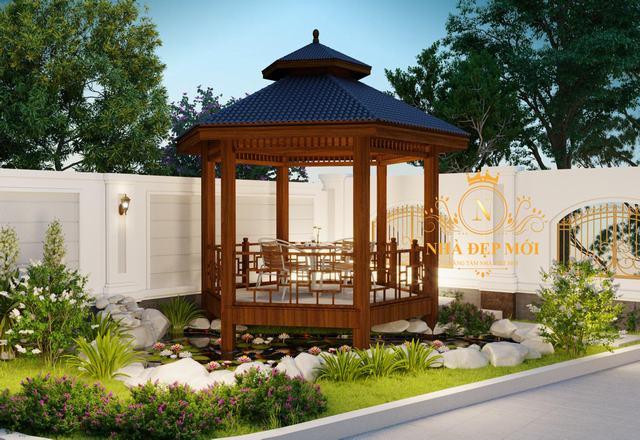 Sân vườn đẹp biệt thự hiện đại