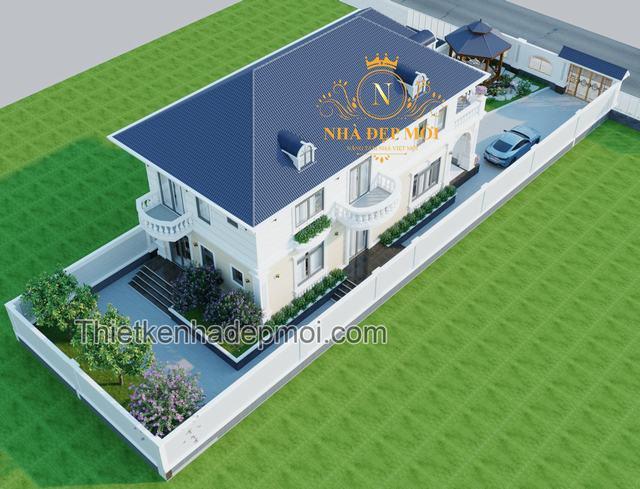 Mẫu nhà 2 tầng đẹp hiện đại Việt Nam
