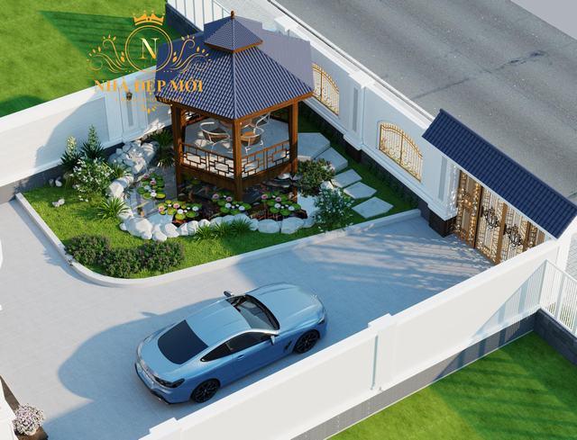 Thiết kế sân vườn nhà hiện đại