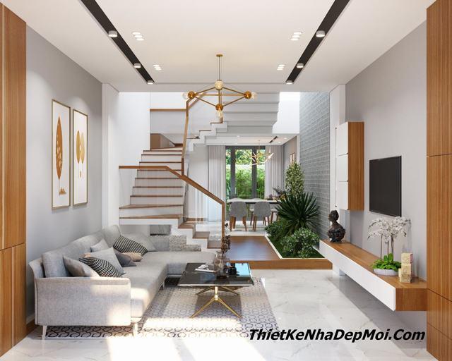 Thiết kế nội thất nhà phố 4x16m