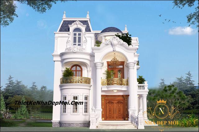 Lâu đài kiểu pháp 2 tầng đẹp