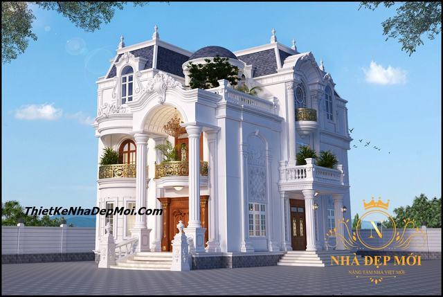 Biệt thự 2 tầng tân cổ điển đẹp nhất Việt Nam