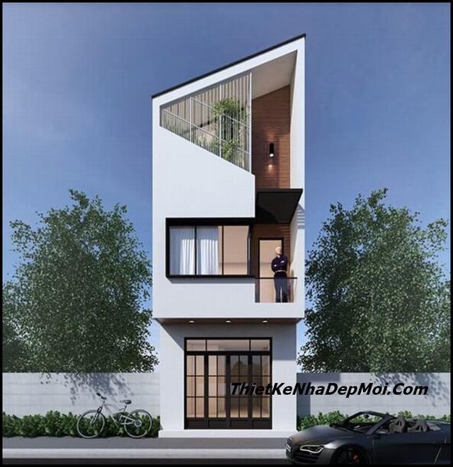 Nhà đẹp 1 trệt 1 lầu 1 sân thượng 5x12