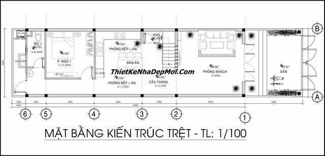 giá xây nhà 1 trệt 2 lầu sân thượng 2020