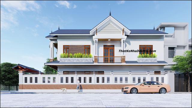 Thiết kế nhà hai mặt tiền hiện đại