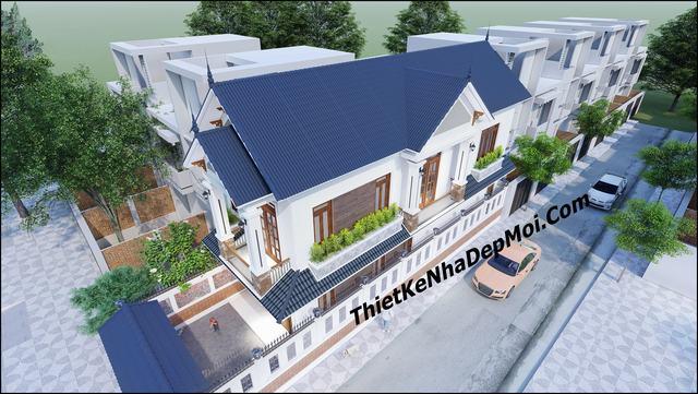 Nhà hai mặt tiền mái thái