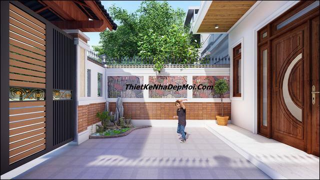 Thiết kế sân cho nhà phố