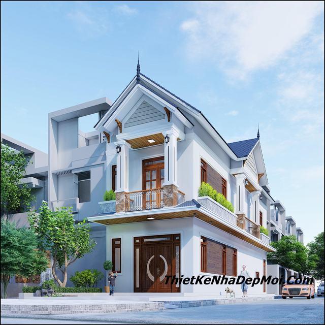 Nhà 2 tầng 2 mặt tiền mái thái