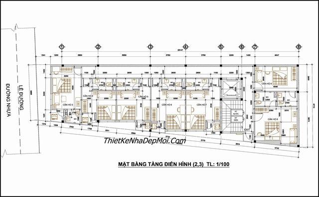 Bản vẽ căn hộ chung cư mini