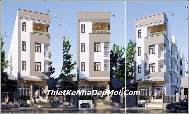 Thiết kế căn hộ dịch vụ cho thuê 4 tầng