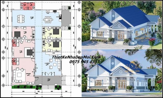 Thiết kế nhà 4 phòng ngủ nông thôn