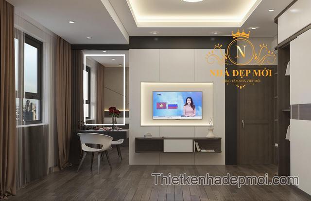 Thiết kế nội thất chung cư phong cách hiện đại giá rẻ