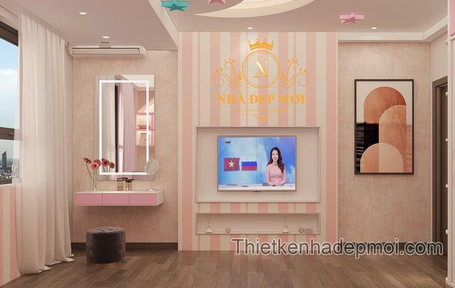 Thiết kế phòng ngủ chung cư cho con gái