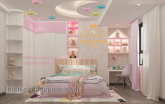 trang trí phòng ngủ chung cư hiện đại cho bé