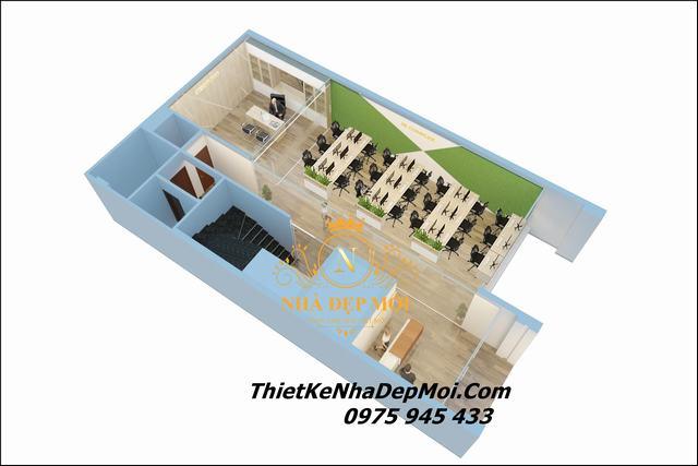 Thiết kế văn phòng xanh 140m2