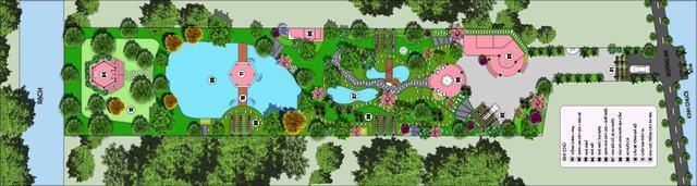 Bản vẽ nhà vườn cấp 4 đẹp 2 phòng ngủ