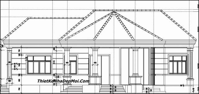 Bản vẽ thiết kế nhà vườn trệt