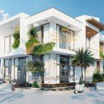 Mẫu villa 2 tầng hiện đại phong thủy