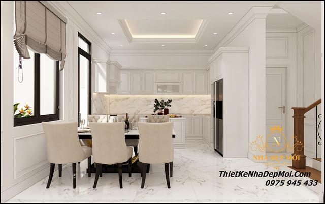Thiết kế nội thất nhà mái thái đẹp