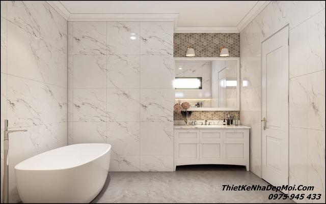 Không gian phòng vệ sinh tắm rửa