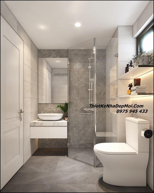 Hình ảnh phòng tắm wc đẹp nhà mái thái