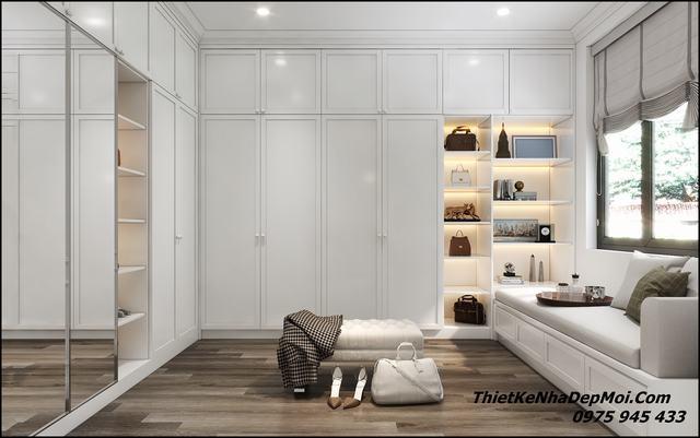 Thiết kế phòng ngủ hiện đại nhà mái thái