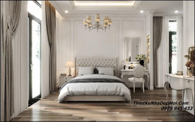 Mẫu nội thất phòng ngủ châu âu đẹp