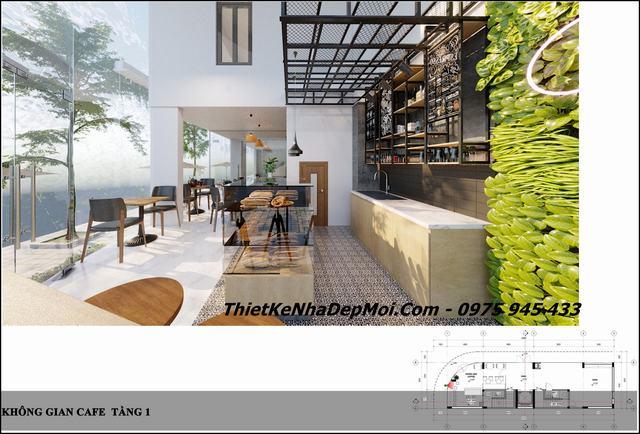Thiết kế căn hộ có kinh doanh cafe mini