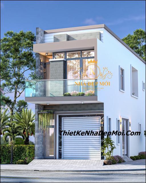 Chi phí xây nhà 5x20 1 trệt 1 lửng hiện đại