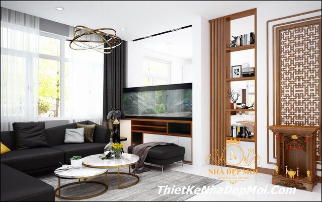 Trang trí nội thất nhà đẹp mái bằng hiện đại 2021