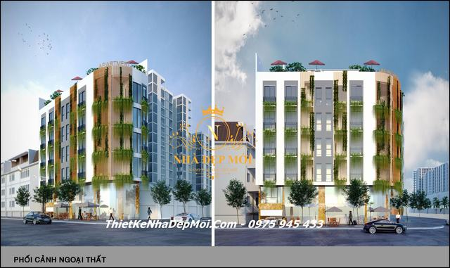 Thiết kế căn hộ hiện đại 7 tầng 2020