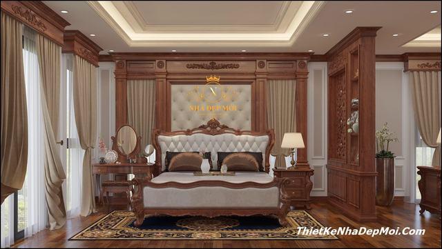 Thiết kế nội thất biệt thự gỗ đẹp