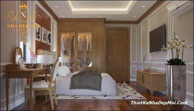 Mẫu phòng ngủ gỗ đẹp năm 2020