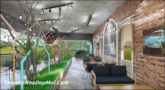 Trang trí không gian quán trà sữa đẹp bình dân