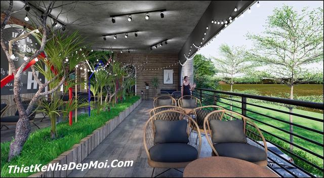 Ý tưởng quán trà sữa sân vườn