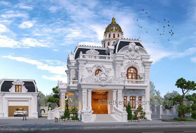 Biệt thự vườn 2 tầng cổ điển đẹp nhất